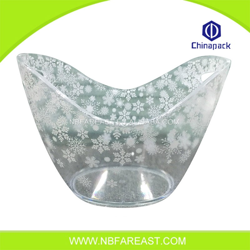 Newest fashion acrylic large item custom ice bucket