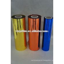 Película colorida para animais de estimação metalizada