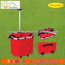 Plegable carrito de compras con bolsa extraíble