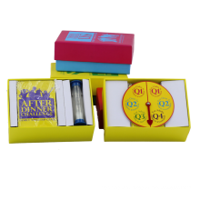 Custom Design Kids Educational Game Paper Set Printed Children Adults Table Card Game with Box
