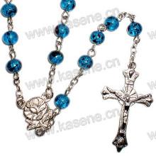 Rosary Jewelry, Religious Catholic Glass Rosary