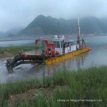 Draga de succión de dragado de lodo de arena profesional de 1400 m ^ 3 / h de 12 pulgadas para dragado de río