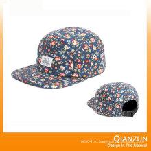 Простая цветочная 5-гранная Snapback Hat