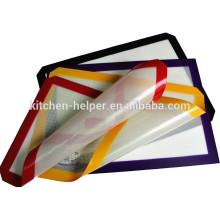 New Arrival Professional fabricante Grade de alimentos Soft Non-stick Fiberglass Silicone Baking Mat
