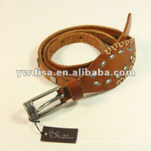 Studs Lady's Leather Belt Narrow Leather Belt