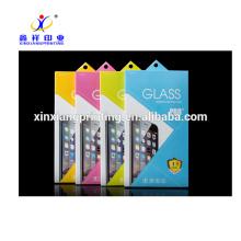 Boîte d'emballage en verre trempé faite sur commande en gros de téléphone portable de téléphone portable avec la poignée