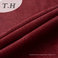 Red Bronzed Knitted Suede Fabric 270GSM