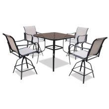 Открытый слинг 5pc мебель обеденной сет - 2 * 1 textilene