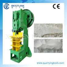 Piedra seta decorativa eléctrica rompiendo la máquina de piedra arenisca y mármol