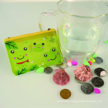 Popular plastic printed cheap promotional coin purse