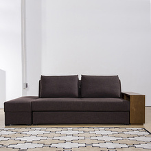 Convertible Corner Couch Fabric Storage Sofa Bed