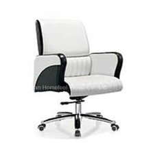 High Quality Genuine Leather Medium Back Office Manager Chair (HF-B1517)