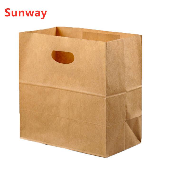 Die cut handle kraft paper bag