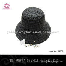 Ladies Black Bowler Hat GW059