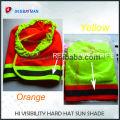 High quality reflective helmet sun shade hi-vis safety hard hat neck shade