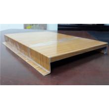Placa de teto de alumínio da grão da madeira