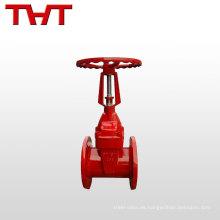 Válvula de compuerta del sello del asiento flexible del vástago BS 5163 / válvula del extintor