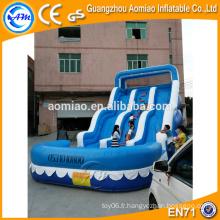 Glissières gonflables géantes à vendre, toboggan gonflable pour adultes avec piscine