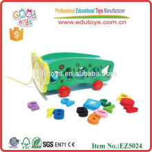 2015 New Wooden Educational Vehicle Toys