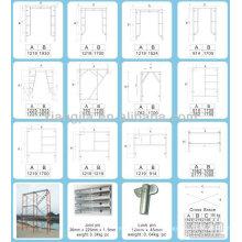 sistema de andamios de aluminio