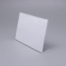 Suporte para cartão de mesa em acrílico transparente de tamanho pequeno