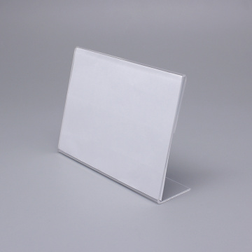 Support de carte de table en acrylique transparent de petite taille