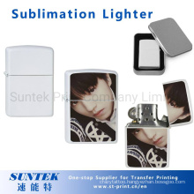 Gasoline Lighter White Sublimation Blank Personalized Printed Lighter
