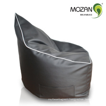 sharp back PU leather beanbag sectional beanbag sofa