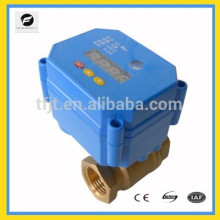 DC9-24V modulation motor ball valve with 0,25%,50%,75% open to closed