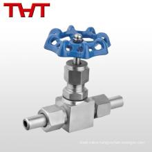 """High pressure 1/4""""-1"""" adjustable straight 6000 psi ss needle valve"""