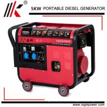 5kw einphasiger mortot generator 5 kw set, luftgekühlte 5kw diesel generator, leise tragbare diesel generatoren