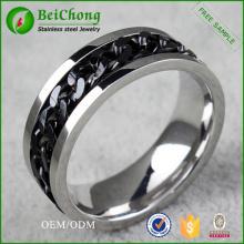 Cadena de la joyería de accesorios de moda anillo de acero inoxidable