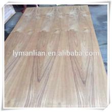 madera de teca de lujo de Birmania / madera contrachapada de la chapa del corte de la flor / madera contrachapada de la chapa de la ceniza para Iraq