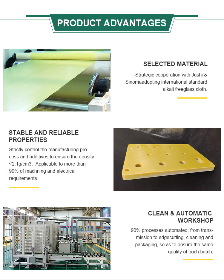 Best Price Resin Epoxy Board For Cnc Insulation light green 3240 plate