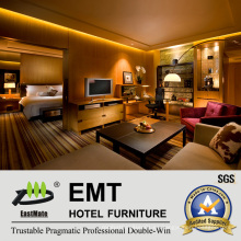 Moderno estilo de la estrella Hotel Presidential muebles de la habitación conjunto (EMT-HTB05-3)