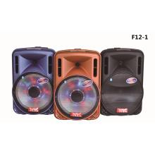 Caja del altavoz de la carretilla de 12 pulgadas con el banco grande de la energía Bluetooth FM F12-1