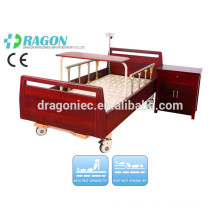 DW-BD188 electric adjustable beds uk high density wood manual nursing bed with two functions for medical equipment