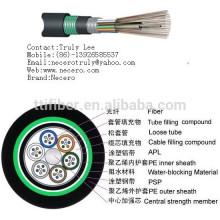 De buena calidad 12 núcleos solo modo G652D al aire libre FRP Fuerza GYTA blindado de fibra óptica Cable Precio
