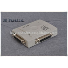high quality DB parallel port switch with compact auto switch, two computers share one printer.