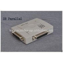 Switch de porta paralela DB de alta qualidade com compactação automática, dois computadores compartilham uma impressora.