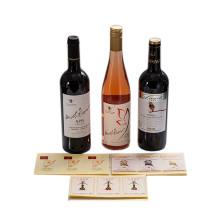 Custom Printing Glass Bottle Wine Beer Promotional Label Sticker