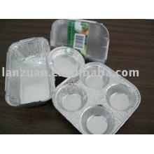 papier d'aluminium délié conteneur-gâteau