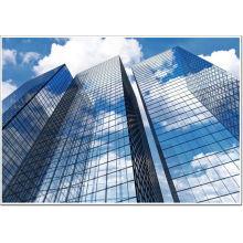 \ Frameless Low Cost Skyscraper Glas Vorhang Wand Installation