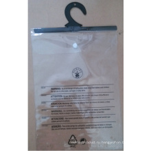 Индивидуальный мешок из ПВХ, пакет из пластиковой упаковки с крючком, сумка из ПВХ-кнопки, сумка для нижнего белья из ПВХ, мешок для одежды из ПВХ, мешок для вешалки из ПВХ (hbpv-74)