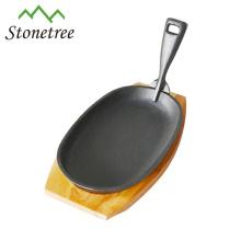 Cast Iron Wood Stove Oval Fajita Platter Fajita Skillet