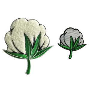 3D Flower shape Chenille embroidery patch