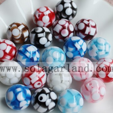 20MM Jelly Style Spacer Resin Round Beads