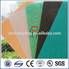 2015 nuevo diseño dimond policarbonato en relieve textura lexan pc hoja