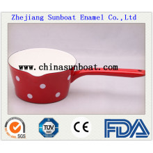 Enamel Milk Pot with Handle