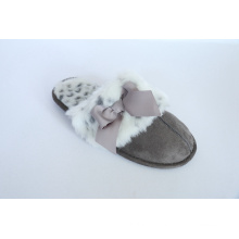 Women′s Indoor Slipper with Bowknot